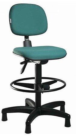 Cadeira Caixa Alta Secretária Ergonômica Aro Back System Supermercado Padaria Recepção