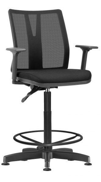 Cadeira Caixa Alta Executiva Addit Ergonômica Aro Back System Supermercado Padaria Recepção