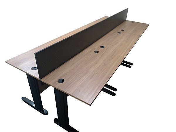 Plataforma de trabalho com Mesas Retas Divisórias 18 ou 25 mm