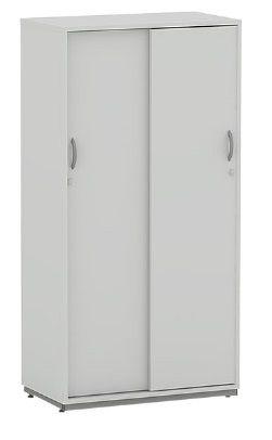 Armário Escritório Alto 2 Portas de Correr 18 mm Home Office