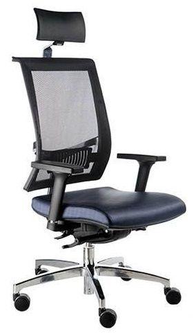 Cadeira Presidente para Escritório Shift com Braços Reguláveis Encosto Tela Apoio de Cabeça