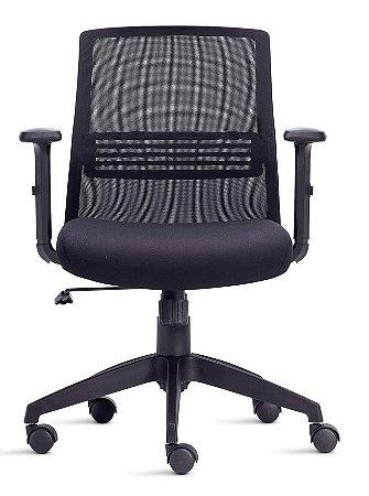 Cadeira Diretor Joy Braços Reguláveis Apoio Lombar Home Office