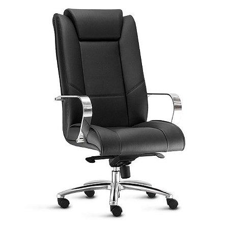 Cadeira Presidente Escritório New Onix Braços Fixos Home Office Giratória
