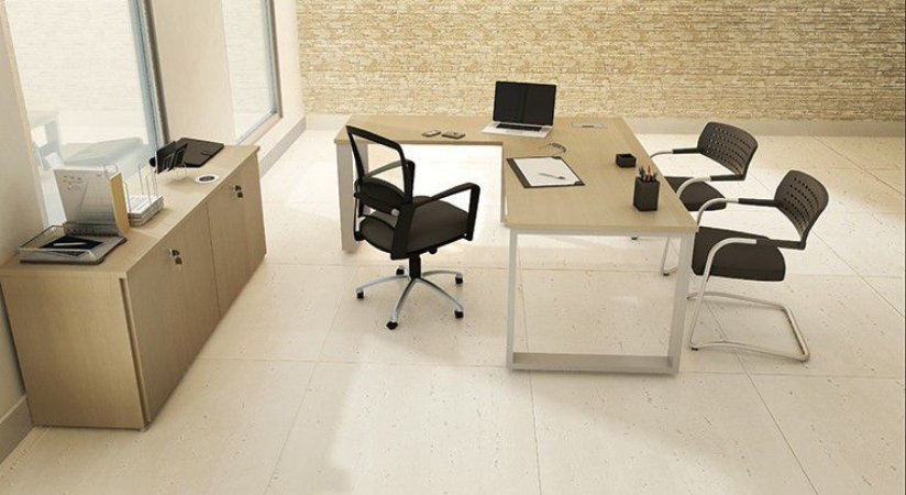 Mesa Escritório Diretoria Executiva L 1,60 x 1,60 x 0,75 m 36 mm Home Office