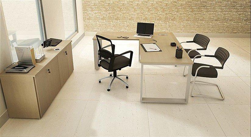 Mesa Escritório Diretoria Executiva L 1,80 x 1,60 x 0,75 m 36 mm Home Office