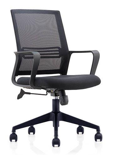 Cadeira Giratória Executiva Escritório Home Office Relax Braços Fixos Giratória Encosto em Tela Mesh