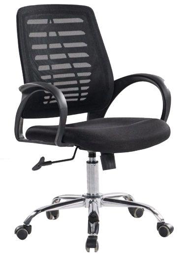 Cadeira Executiva Corporativa Escritório Home Office Braços Fixos Giratória Cromada