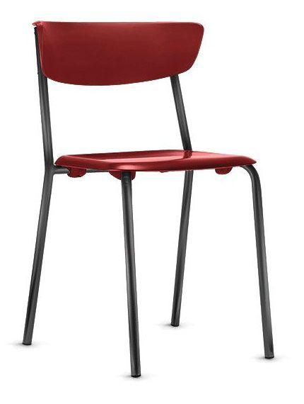 Conjunto 4 Cadeiras Fixa 4 Pés Bit Multiuso Plastica