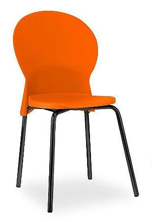 Conjunto 4 Cadeiras Fixa 4 Pés Luna Multiuso Plastica