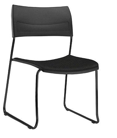 Conjunto 5 Cadeiras Fixa Nina Multiuso Plastica