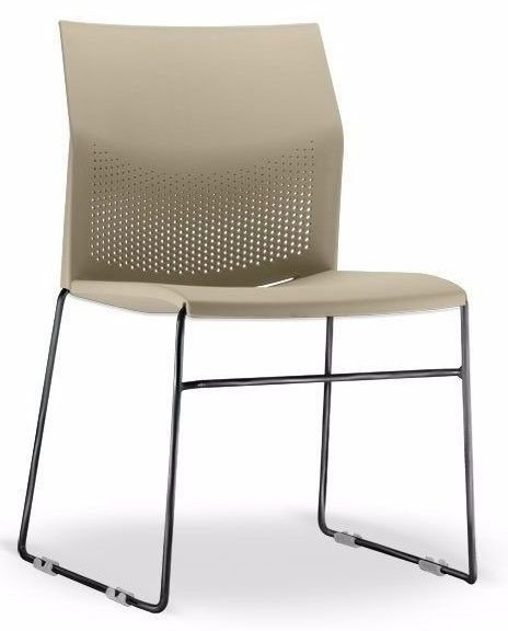 Conjunto 5 Cadeiras Fixa Connect Multiuso Plastica