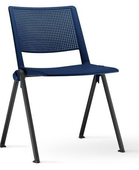 Conjunto 5 Cadeiras Fixa 4 Pés UP Coletiva Longarina Empilhavel