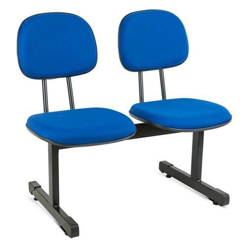 Cadeira Longarina Secretária 2 Lugares Espera Recepção Lounge