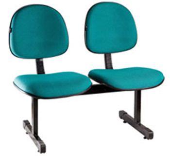 Cadeira Longarina Executiva 2 Lugares Espera Recepção Lounge