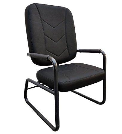 Cadeira Poltrona Diretor Fixa para Obeso até 250 kg Escritório Home Office