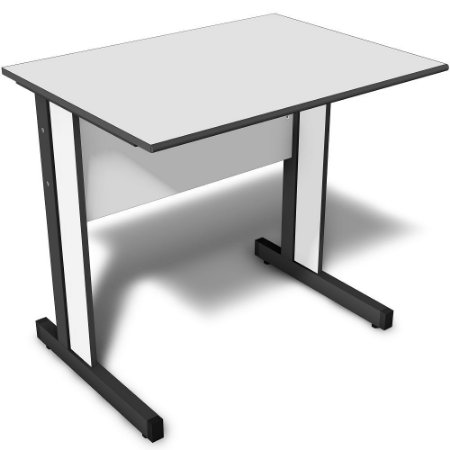 Mesa para Escritório Reta 1,40 X 0,60 M 15 Mm Light Escrivaninha Home Office