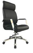 Cadeira Escritório Presidente Braços Fixos Cromado Giratória Home Office Corporativa