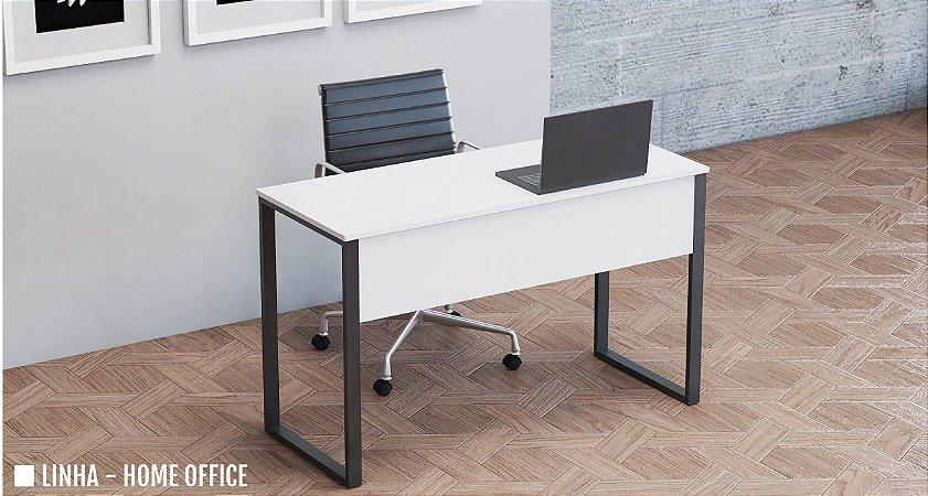 Mesa para Escritório Reta Home Office Pé em Aço Tubular 1,00 x 0,50 m 15 mm Escrivaninha