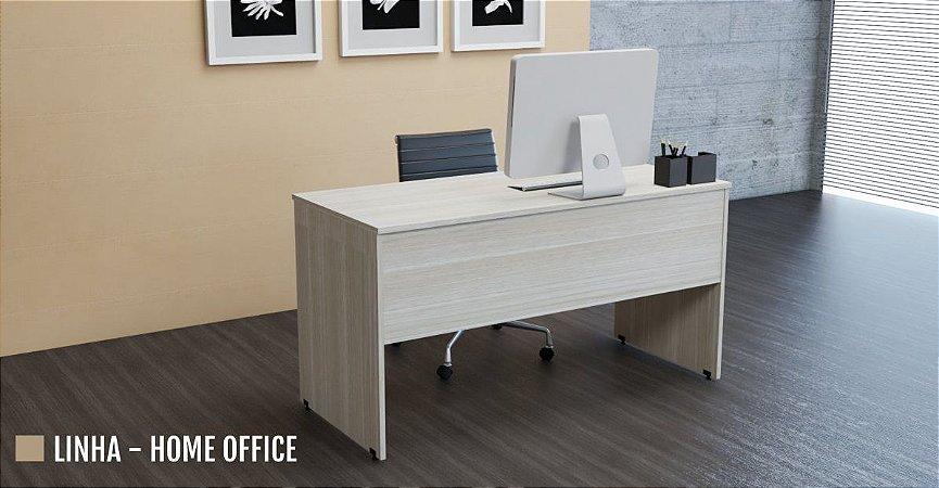 Mesa para Escritório Reta Pé Painel 0,80 x 0,50 m 15 mm Home Office Escrivaninha