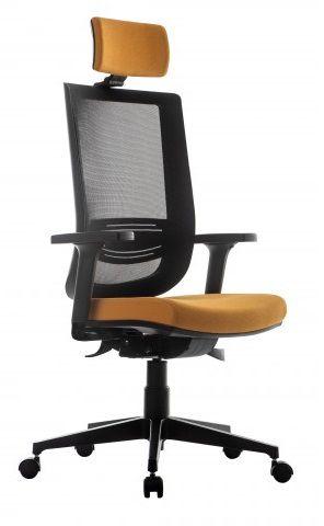 Cadeira Escritório Presidente Try Ergonômica Giratória Tela Mesh Apoio de Cabeça Lombr Home Office Corporativa