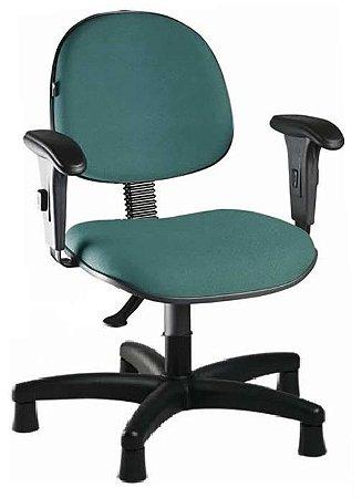 Cadeira Para Costureira Executiva Giratória Sapatas Fixas Com Braços Regulavéis