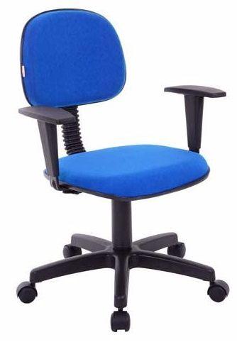 Cadeira para Escritório Secretária Giratória Home Office com Braços Reguláveis