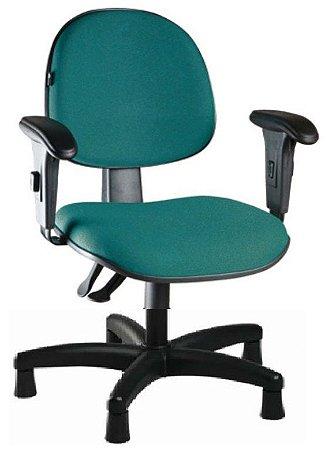 Cadeira para Costureira Executiva Ergonômica Braços Reguláveis Giratória Sapatas