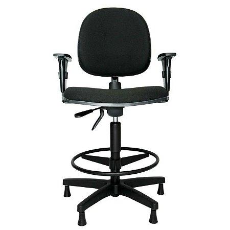 Cadeira Caixa Alta Executiva Ergonômica Aro Back System Braço Regulável Supermercado Padaria Recepção