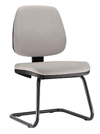 Cadeira Job Executiva Fixa Escritório Atendimento Cantilever Aproximação