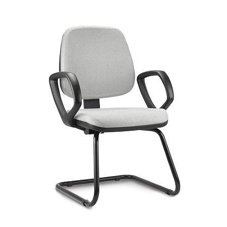Cadeira Job Executiva Fixa Com Braços Fixos Escritório Atendimento Cantilever Aproximação