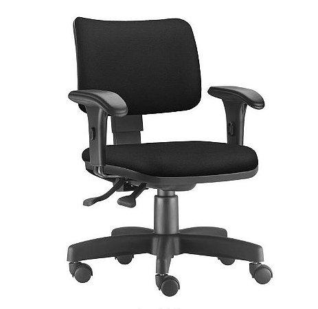Cadeira Escritório Executiva Zip Tapeçada Ergonômica Giratória Home Office