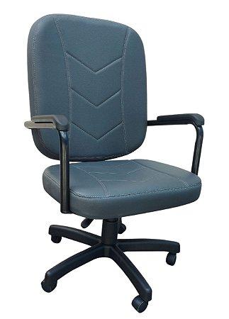 Cadeira Poltrona Diretor Giratória para Obeso até 150 kg Escritório Home Office