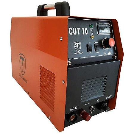Maquina De Corte A Plasma Techweld Cut 70a Corta 25mm - 220v