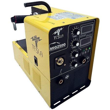 Máquina Solda Mig Mag / Mma Eletrodo 250a 220v Arame 15kg