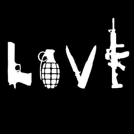 Adesivo Love EDC - Armas