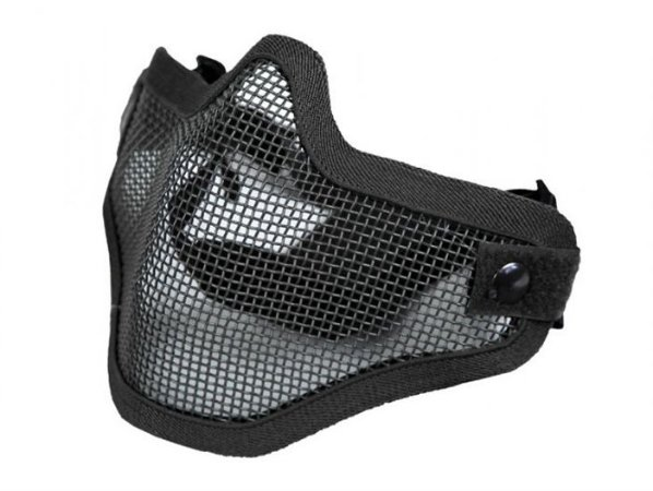 Máscara de Proteção Airsoft Tela Meia Face Preta