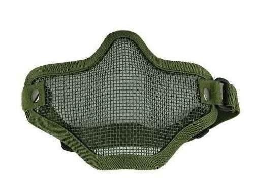 Máscara de Proteção Airsoft Tela Meia Face Verde