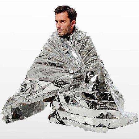 Cobertor de emergência aluminizado