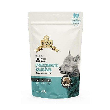 Snacks Hana Healthy Life Puppy Growth Support para Cães Filhotes - 80g