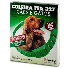 COLEIRA KONIG ANTIPARASITÁRIO TEA COM 44CM