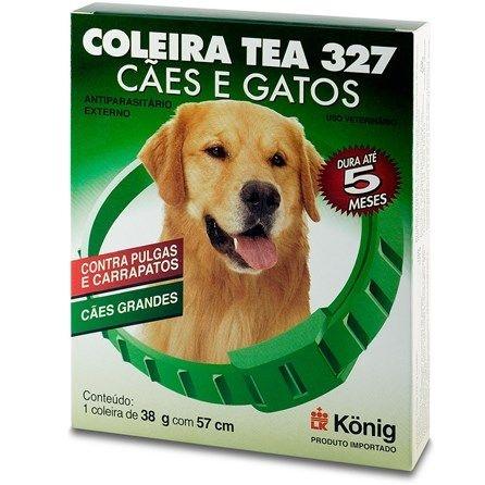 COLEIRA KONIG ANTIPARASITÁRIO TEA 327 COM 57CM