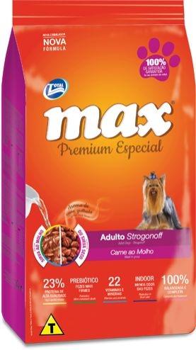 RAÇÃO MAX PARA CÃES ADULTOS SABOR STROGONOFF