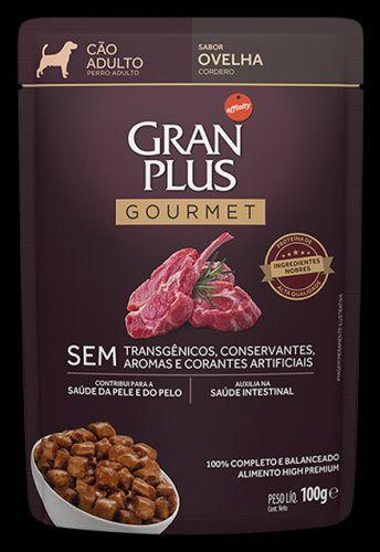 Ração Úmida Affinity PetCare GranPlus Sachê Gourmet para Cães Adultos Ovelha - 85g
