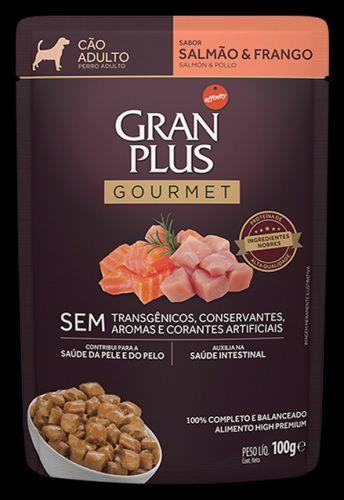 Ração Úmida Affinity PetCare GranPlus Sachê Gourmet para Cães Adultos Salmão e Frango - 85g