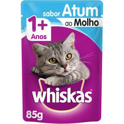Ração Úmida Whiskas Sachê Atum ao Molho para Gatos Adultos - 85g