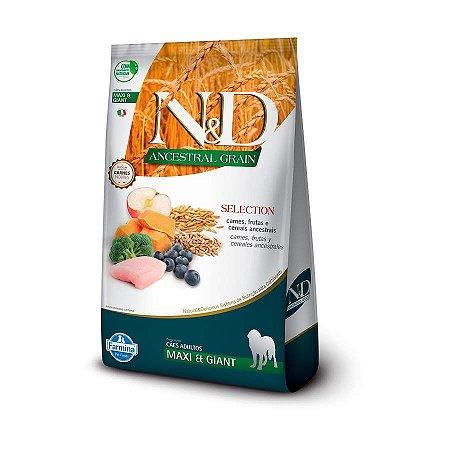 Ração Farmina N&D Ancestral Selection Sabor Carne, Frutas e Cerais para Cães Filhotes de Raças Grandes Sabor Frango - 15kg
