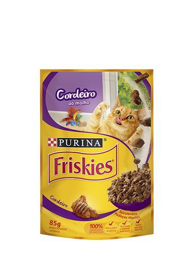 Ração Nestlé Purina Friskies Sachê Cordeiro ao Molho para Gatos - 85g