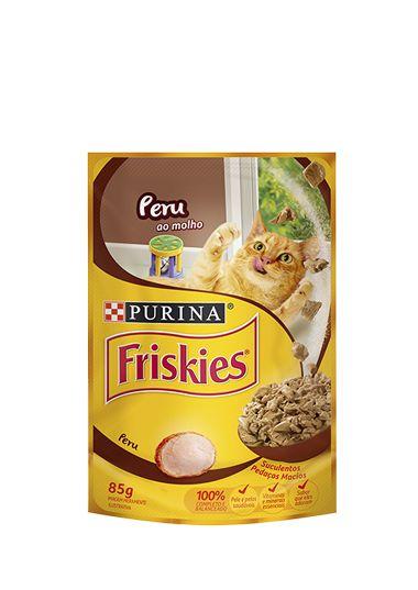 Ração Nestlé Purina Friskies Sachê Peru ao Molho para Gatos - 85g