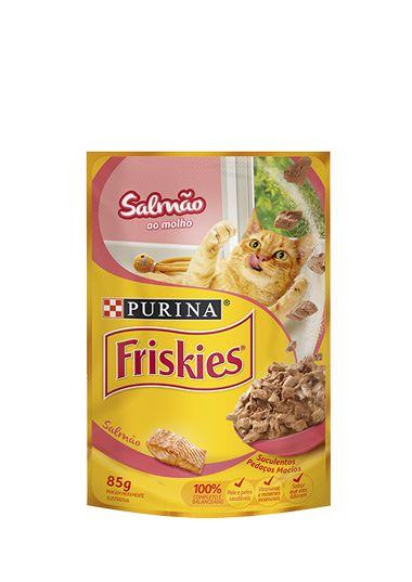 Ração Nestlé Purina Friskies Sachê Salmão ao Molho para Gatos - 85g