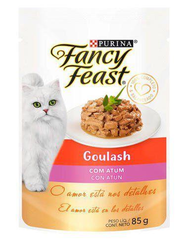 Racão Úmida Nestlé Purina Fancy Feast Sachê Goulash com Atum para Gatos Adultos - 85g